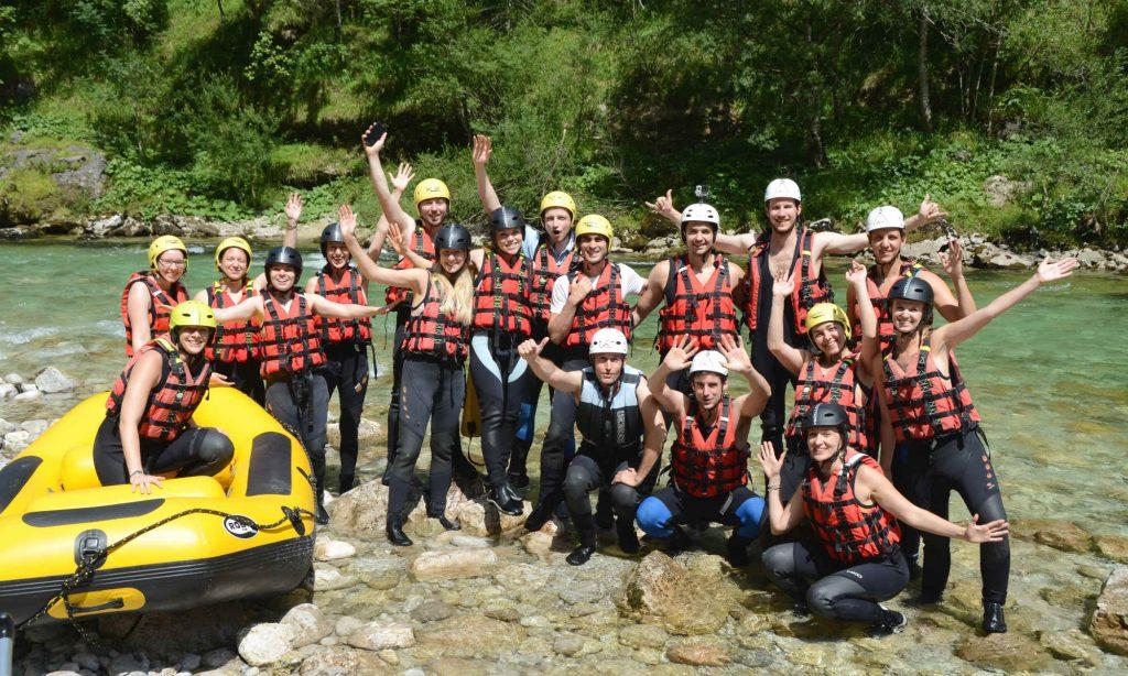 Rafting Teamevent auf der Salza in der Steiermark.